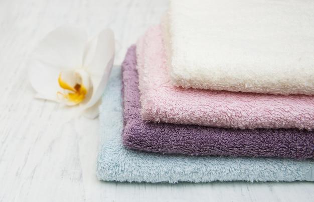Orchidee e asciugamani spa
