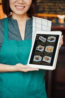 Ordinazione di cibo online