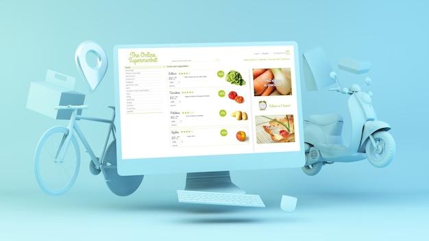Ordine del supermercato online ordine di consegna online