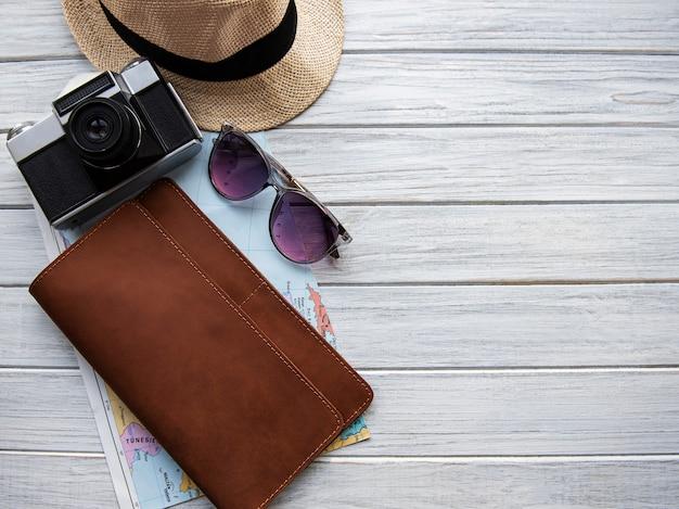 Organizer da viaggio in pelle marrone