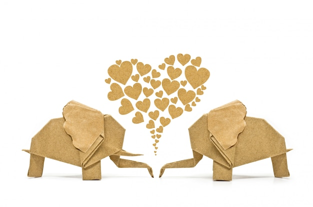 Origami elefante d'amore