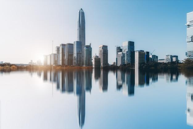 Orizzonte di paesaggio architettonico urbano a shenzhen