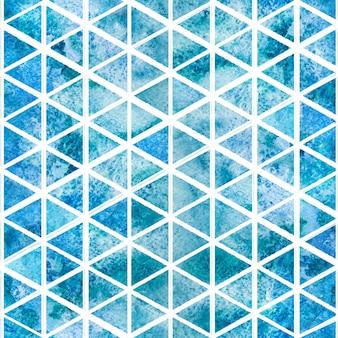 Ornamento di mattonelle di mosaico marino senza giunte dell'acquerello.