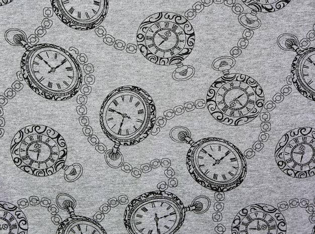 Orologi da tasca d'epoca sulla trama del tessuto