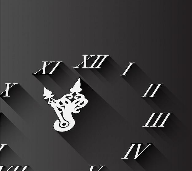 Orologio con numeri romani su fondo nero