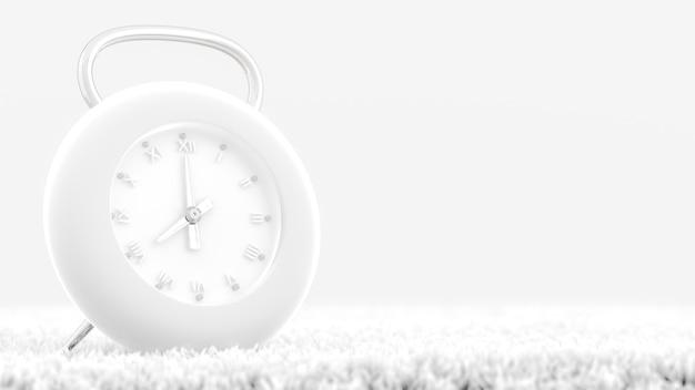 Orologio moderno colore bianco sul tappeto