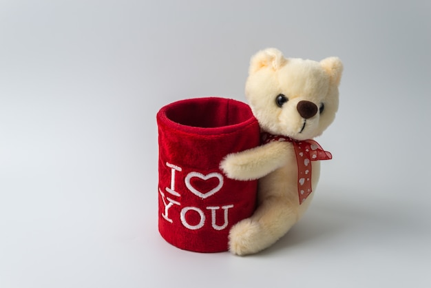 Orso giocattolo orsacchiotto isolato