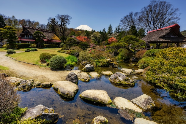 Oshino hakkai patrimonio giardino e casa