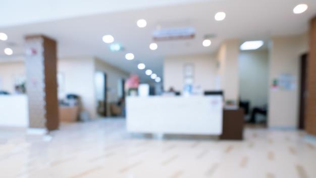 Ospedale corridoio sfocato