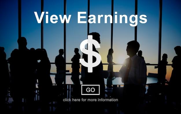 Osservi i guadagni che conta il concetto finanziario dei soldi