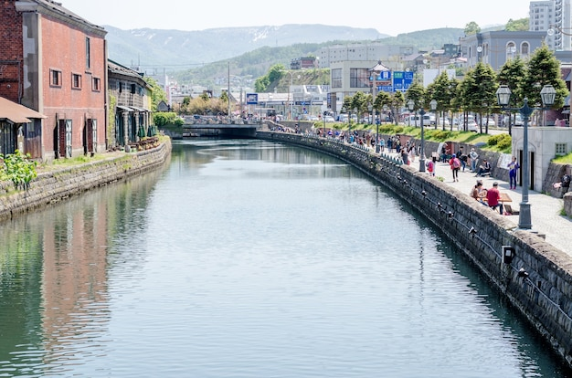 Otaru canal era una parte centrale del porto occupato della città nella prima metà del 20 ° secolo
