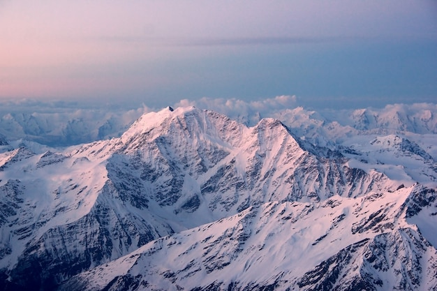 Мountains in snowescape