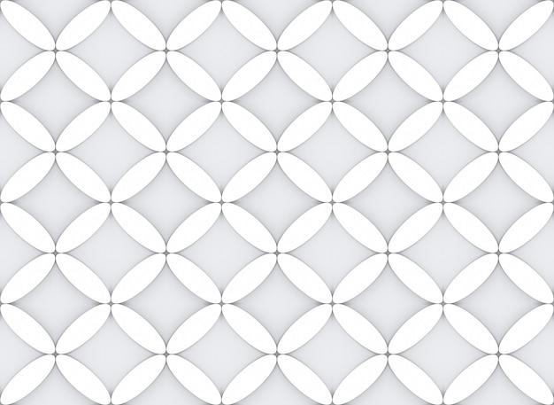 Ovale moderno senza soluzione di continuità nella parete del tessuto di disegno del modello di forma di fiore