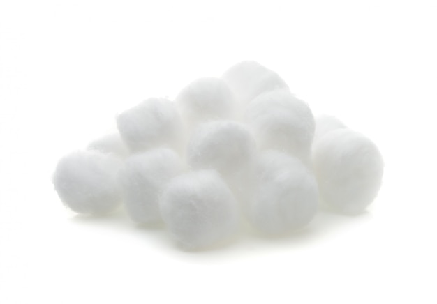 Ovatta isolato su sfondo bianco