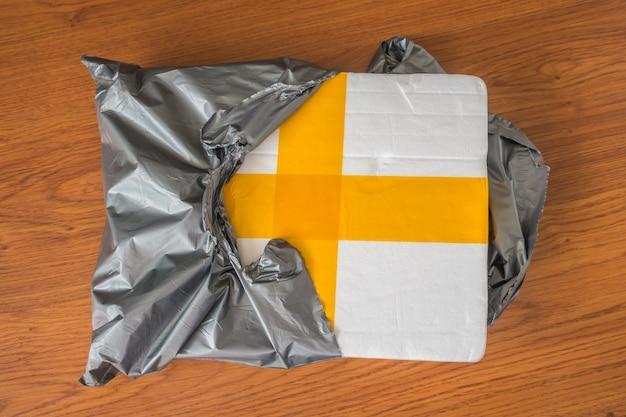 Packaging scatola della gomma piuma.