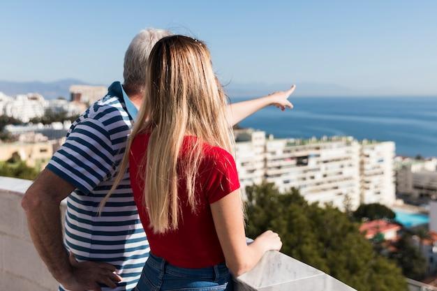 Padre e figlia trascorrere del tempo insieme