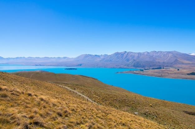 Paesaggi osservati dall'osservatorio di tekapo, isola del sud nuova zelanda