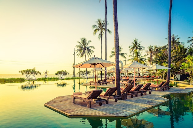 Paesaggio clima hotel paradise tramonto