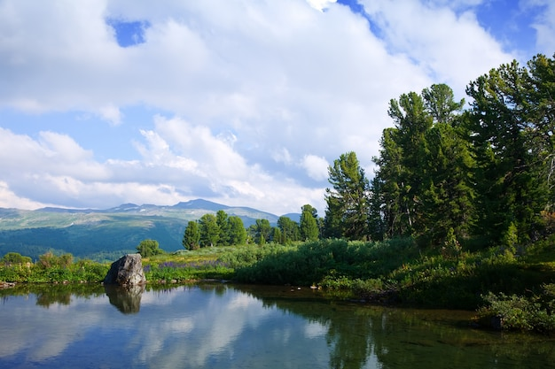 Paesaggio con laghi di montagna