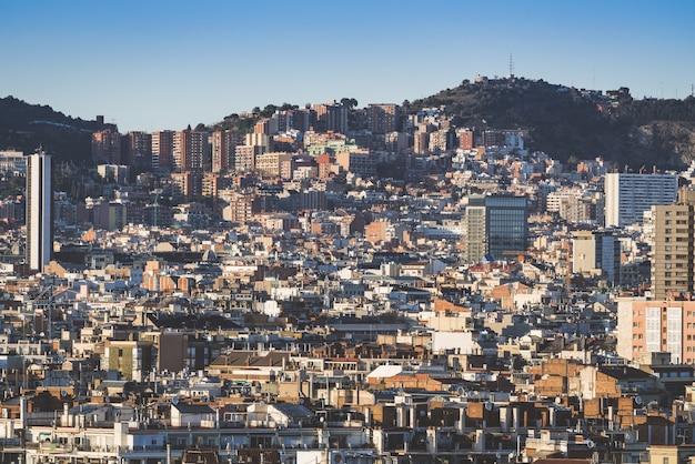Paesaggio degli edifici della città di barcellona