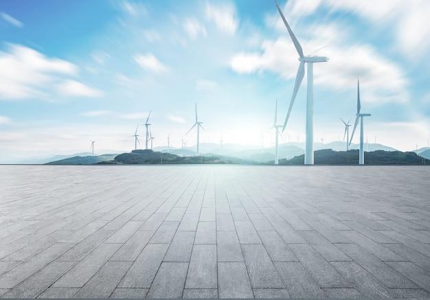 Paesaggio del mulino a vento
