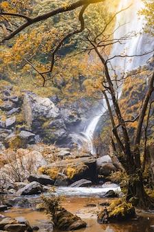 Paesaggio del parco nazionale della cascata di klonglan