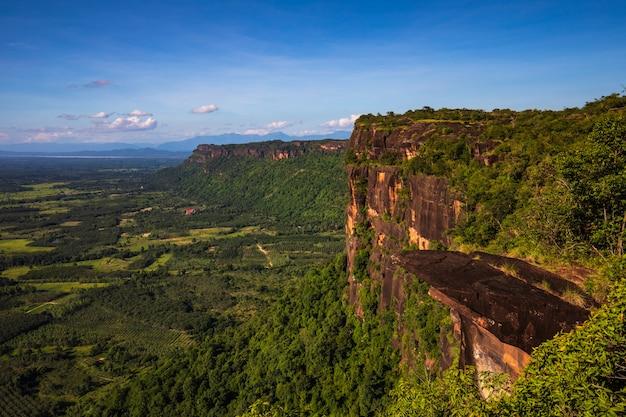 Paesaggio del parco nazionale di phu- lang-ka