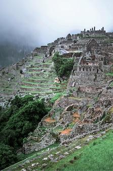 Paesaggio del tempio di machu picchu