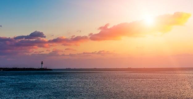 Paesaggio del tramonto