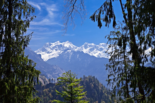 Paesaggio dell'himalaya, nepal