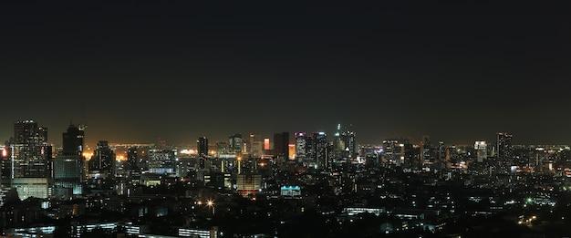 Paesaggio della città di bangkok di notte