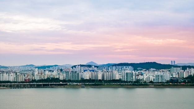 Paesaggio della città di seoul