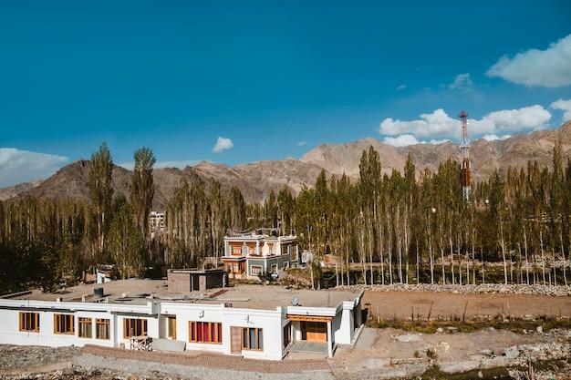 Paesaggio di autunno nella regione di leh ladakh, india