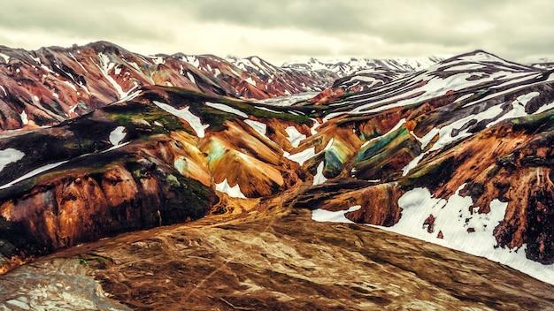Paesaggio di landmannalaugar islanda highland