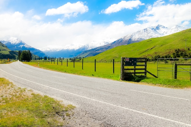 Paesaggio e natura viste paese nuova zelanda