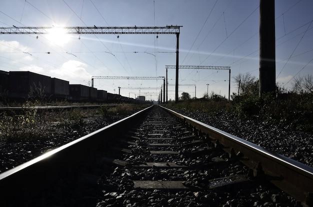 Paesaggio ferroviario mattina