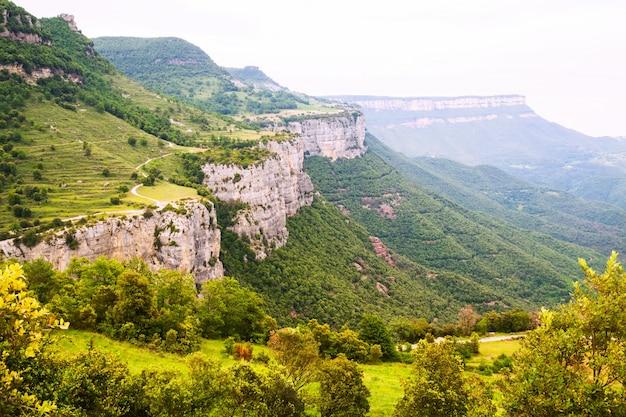 Paesaggio roccioso delle montagne. collsacabra