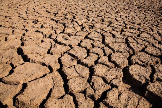Paesaggio secco e privo di acqua in tailandia