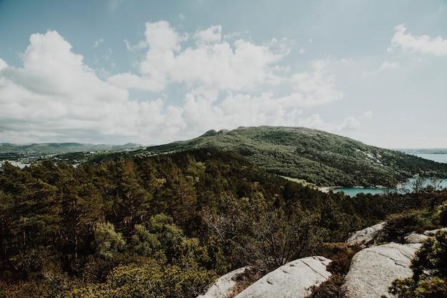 Paesaggio soleggiato di una montagna