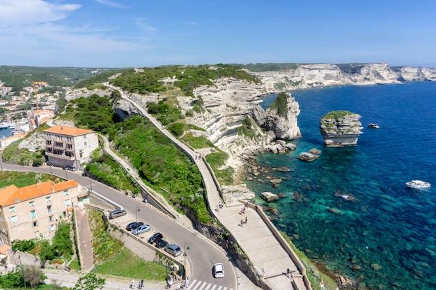 Paesaggio sull'isola della corsica in francia