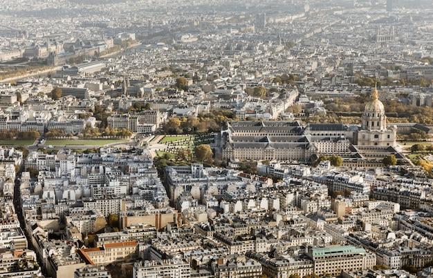 Paesaggio urbano della città di parigi