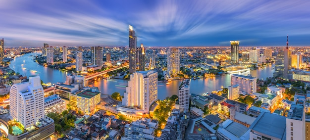 Paesaggio urbano di bangkok tailandia