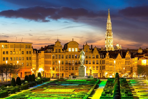 Paesaggio urbano di bruxelles belgio