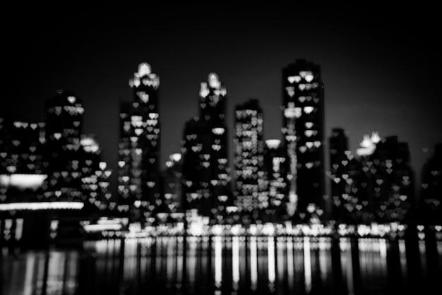 Paesaggio urbano notturno di dubai