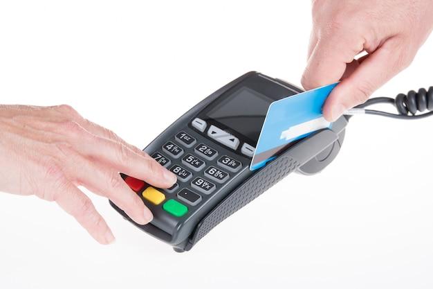 Pagamento con carta di credito, acquisto e vendita di prodotti