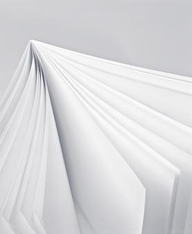 Pagina bianca in un libro bianco