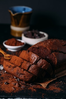 Pagnotta deliziosa fatta in casa al cioccolato