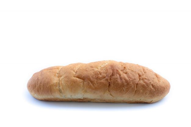 Pagnotta di pane su uno sfondo bianco