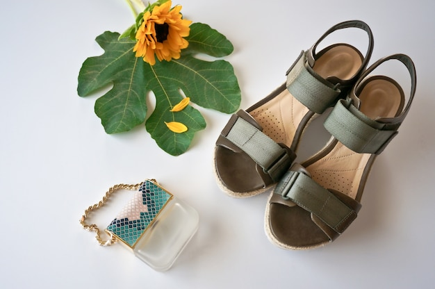 Paio di scarpe verdi