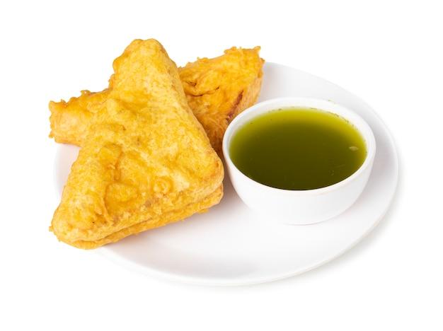 Pakora popolare indiano dello spuntino del tempo del tè